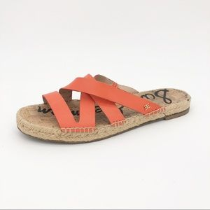 Sam Edelman Averie Sandals Leather Espadrille Flat